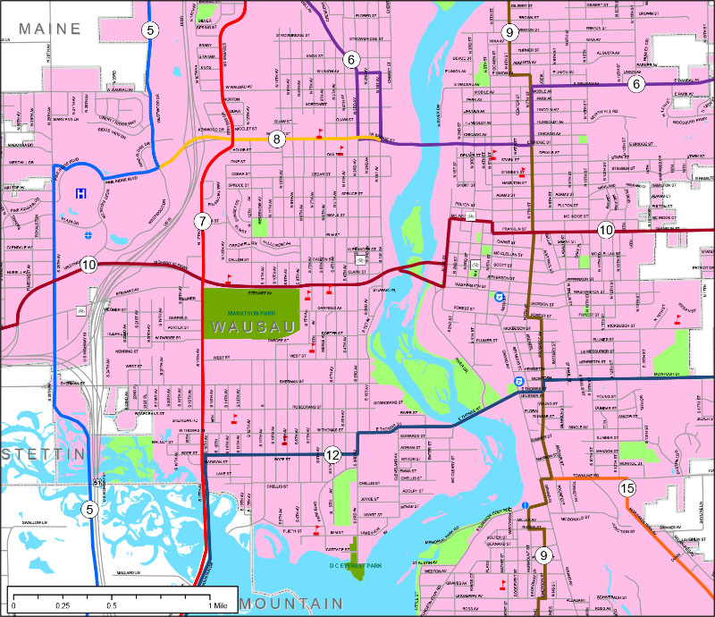 Wausau Inset Map